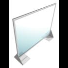 SLIDE-IN vírusvédő ügyfélfal, átlátszót védőplexivel, masszív alu kerettel