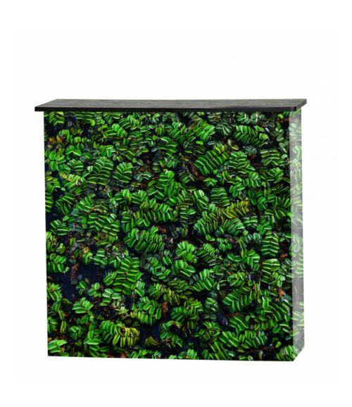 Pult, front textil borítással fekete tetővel