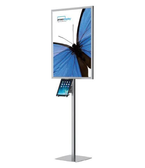 Trigrip LED állvány világító plakátkerettel és tablet tartóval
