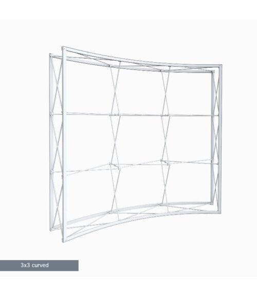 3x3 MODULAR Ívelt Pop-Up Hátfal (211x225cm)