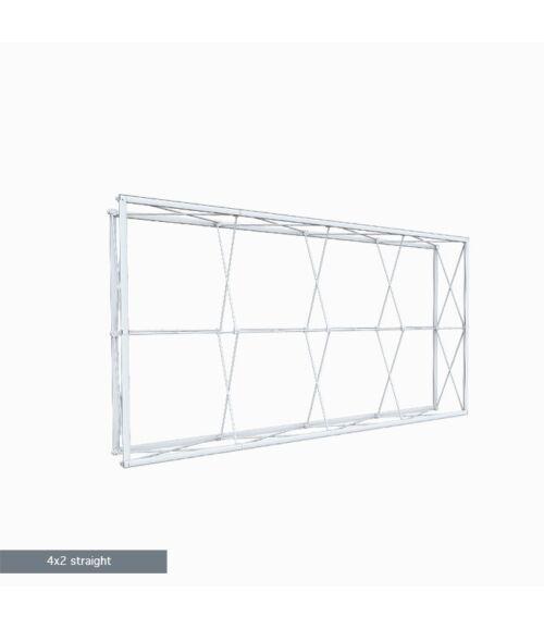 4x2 MODULAR Egyenes Pop-Up Hátfal (300x150cm)