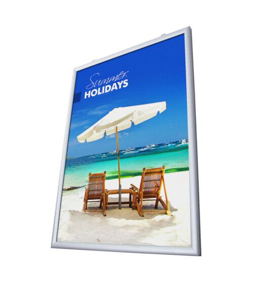 Kétoldalas plakátkeret 25 mm - Derékszögű sarok