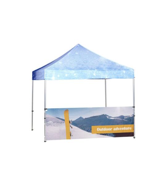 Felezett sátorfal  3x3-as sátorhoz, színes 300x600D