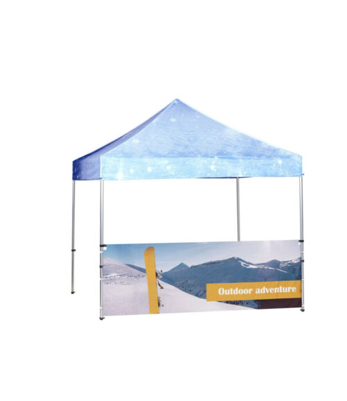 Felezett sátorfal szett 3x3-as sátorhoz, színes 500D