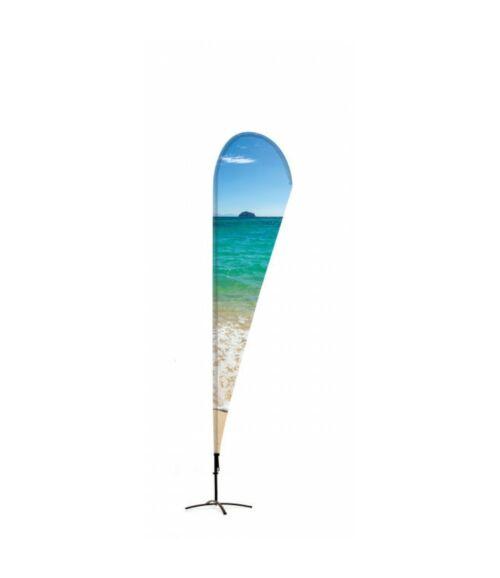 Strandzászló Alu Csepp 235 cm Teljes magasság