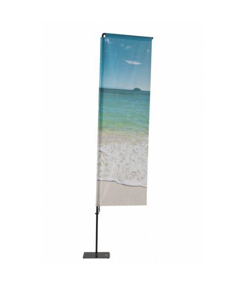 Strandzászló Alu Téglalap 350 cm Teljes magasság