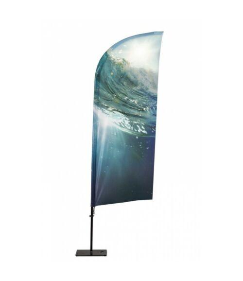 Strandzászló Alu Cápauszony, 205 cm Teljes magasság